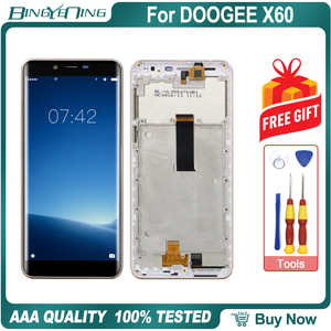 Image 2 - 高品質doogee X60液晶 & タッチスクリーンデジタイザとフレーム表示画面モジュール修理交換アクセサリー部品