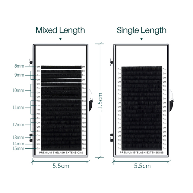 H&L SINCE 1990 20Rows Faux Individual Lashes Maquiagem cilios for Professionals Black Soft Eyelash Extension Thin Tape 4