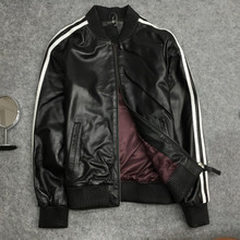 New arrival autumn women/mens casual baseball jackets high quality real leather S-4XL B003