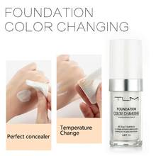 30 мл TLM основа для макияжа Цвет изменение жидкость отбеливающий увлажняющий праймер крем для покрытия, матовая губная Водонепроницаемый ба...