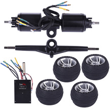 ESC6.1 Dual Drive ESC 100A 8-60V 3S-12S Battery+105LMH Rubber Tyre+Direct Motor and Stage for Electric Scooter Skateboard