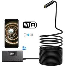 Wireless Endoscope 2.0 Megapixels 1080P WiFi Borescope Semi-Rigid IP67 Waterproof Inspection Snake Camera for Android iOS Tablet