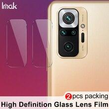 Imak câmera lente filme para xiaomi redmi nota 10 pro câmera traseira len protetor de vidro temperado proteção