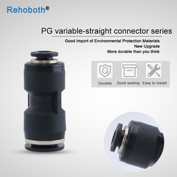 1 Pcs Air Pneumatic Hose Tube One Touch Push Into Straight Gas Fittings Plastic Quick Connectors PG4 PG6 PG8 PG10 PG12 PG16 image