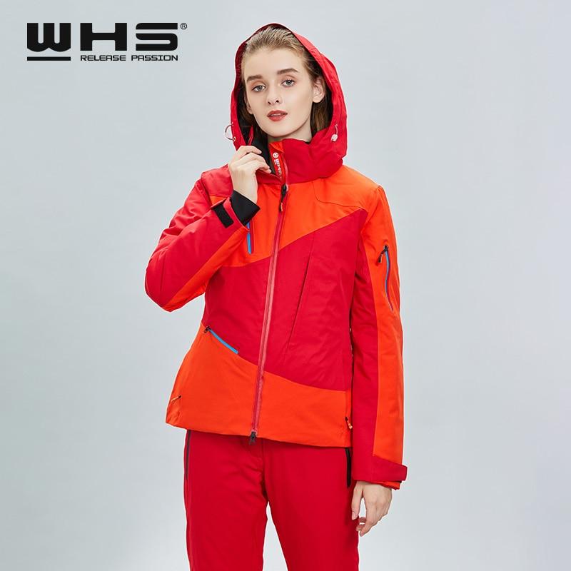 WHS New Women Skiing Jackets Ladies Brands Windproof Warm Coat Female Waterproof Snow Jacket Woman Outdoor Sport Clothes Winter