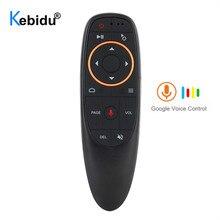 Kebidu g10s controle de voz do mouse do ar com sensor de giroscópio mini remoto sem fio inteligente g10 2.4g usb receptor para a caixa de tv android