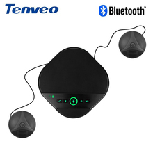 TENVEO A3000BEX USB bluetooth Speaker Conference phone with 2 mics speaker Speakerphone for softphone Mobile Phone tablet pad