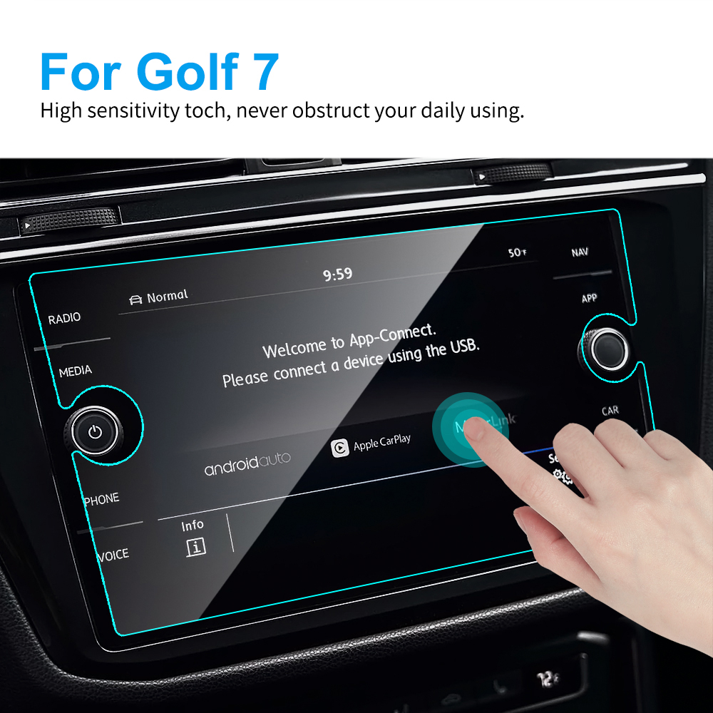 8 Inch TPU Car LCD Touch Screen Protector Protective Film for Volkswagen <font><b>VW</b></font> <font><b>Golf</b></font> <font><b>7</b></font> <font><b>GTI</b></font> GTE GTD <font><b>Golf</b></font> Variant Discovery Accessory image