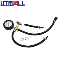 Quick Connected Fuel Injection Pump Pressure Tester Gauge With Valve 0~100PSI