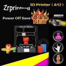 цена на 3D Printer A12 Mega Large Plus Size Full Metal TFT Touch Screen 3d Printer High Precision 3D Drucker Impresora Parts