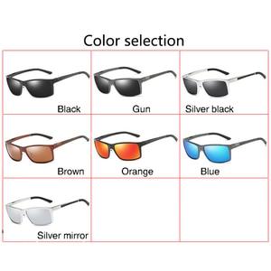 Image 5 - 2019 New Arrival Aluminum Brand men Sunglasses HD Polarized Lens Vintage Eyewear Accessories Sun Glasses Oculos For Men male 605