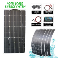 RG 100w 200w 400w solar panel system high efficiency flexible module for RV Yacht and roof off grid