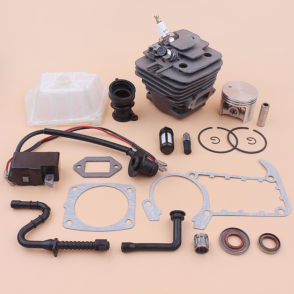 49mm Cylinder Piston Ignition Coil Kit For Stihl MS361 MS 361 Intake Manifold Air Fuel Oil Filter Line Seal Gasket Chainsaw