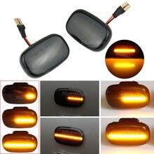 2 pçs dinâmico led lado marcador luz do painel turno sinal lâmpada para toyota corolla e10/e11/e12 ze120 hilux surf n21 yaris verso celica