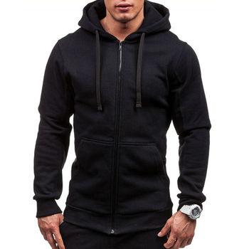 Купить со скидкой Meihuida Autumn Men Casual  Solid Zip Up Warm Pocket Cotton Breathablity Hoodie Hoodies Sweatshirt J