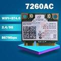 Двухдиапазонная Беспроводная плата AC7260 7260HMW 7260AC 7260HMWAC half Mini PCI-e BT4.0 для HP EliteBook 820 840 850 860
