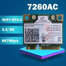 Banda dupla Wireless-AC7260 7260hmw 7260ac 7260hmwac meio mini cartão sem fio pci-e bt4.0 para hp elitebook 820 840 850 860