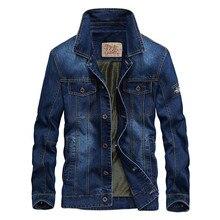 купить 2019 Denim Jacket Men Turn-down Collar Casual  Jackets Mens 2019  Solid Color Winter Jacket Slim Fit Warm  Denim Men Jacket дешево