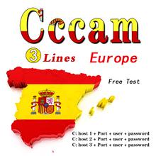 Odbiornik TV CCCAM Cline odbiornik satelitarny obsługuje hiszpanię portugalski-polska stabilny odbiornik satelitarny Cccam roczny najnowszy Cccam tanie tanio GT MEDIA DIGITAL GT-C3
