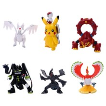 TAKARA TOMY Pokemon 10th Generation 5-8cm Pikachu Ho-Oh Reshiram Zekrom Anime Mould Heißer Action Figur puppen Spielzeug(China)
