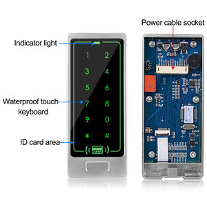 Image 3 - דלת בקרת גישה מערכת ערכת 125KHz RFID קורא מקלדת + אספקת חשמל + אלקטרומגנטית חשמלי Strike בורג מנעולי + EM Keyfbos