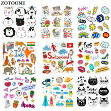 ZOTOONE Animal Cat Astronaut Patch Iron on Transfers for Clothing Applications DIY T-shirt Heat Appliques Stickers E