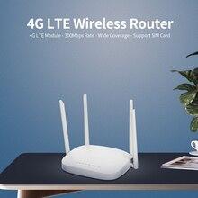 Wifi Router Antennas Sim-Card-Slot 4G LTE 300mbps Smart with External White Us/eu-Version