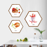 Fresh Fruit Hexagon Canvas Painting Posters and Prints Oil Painting Wall Art Canvas Framed Home Decor Hallway Bedroom Picture