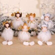 12 قطعة/الوحدة طفل الفتيات شجرة عيد الميلاد زينة لطيف الملاك قلادة حلية الجلوس و أسفل لعرض نافذة