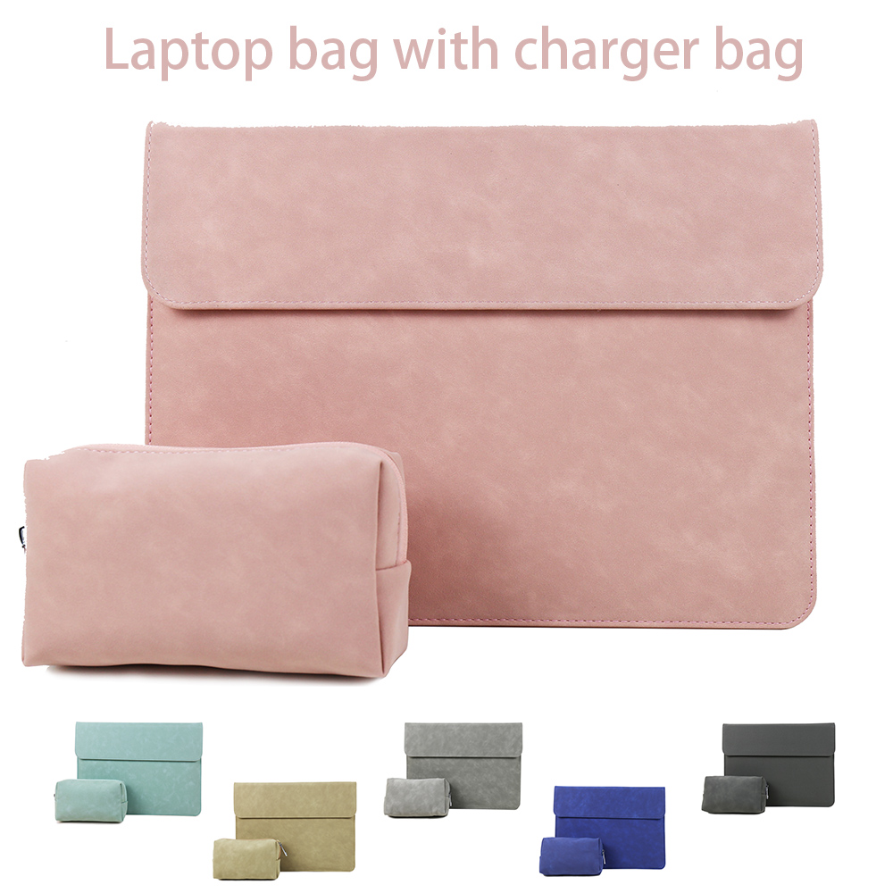 Matte Soft Laptop Sleeve For Macbook Air 13 Bags Touch ID 2019 Pro 13 11 12 15 Case For Xiaomi Air 13.3 Pro15.6 Notebook Cover
