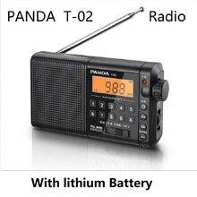 Panda T 02 rádio all band portátil seniors fm semiconductor play mp3 função de memória de carregamento alto volume fácil de usar