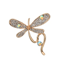 Gariton 2019 New artistic Alloy Metal Full Rhinestone Enamel Butterfly Brooches For Women Jewelry Accessories