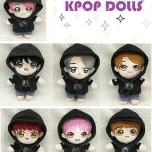 [MYKPOP] Одежда и аксессуары для куклы KPOP: кукла+ Черный свитшот+ джинсы, 20 см куклы KPOP Bangtan Fans коллекция SA19110208