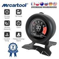 MR CARTOOL-herramienta de diagnóstico OBD2 para coche, dispositivo con pantalla HUD, velocímetro GPS, indicador de temperatura de agua Digital, indicador de aceite de advertencia de exceso de velocidad, M3