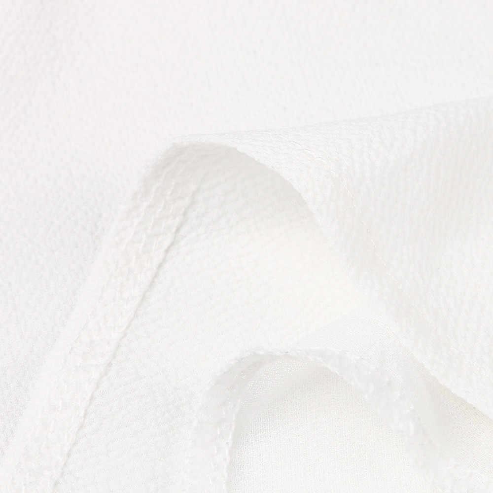 לבן נשים שיפון גופיות ללא שרוולים מוצק V צוואר אפוד חולצה Camis בגדי 2019 קיץ למעלה חולצות polera tirantes mujer