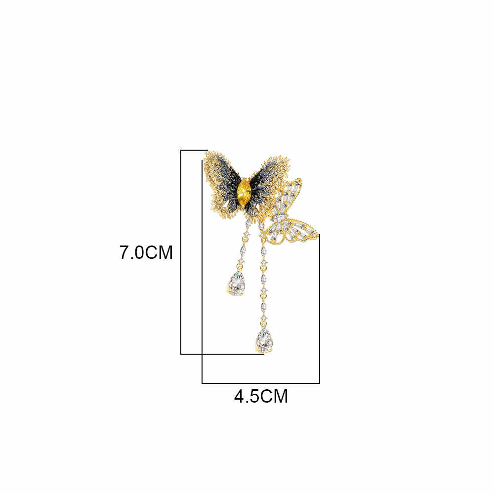 Viennois Butterfly Bros UNTUK WANITA DROP Rumbai Dekorasi Klasik Hewan Korsase Pin