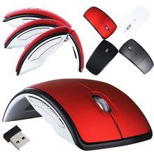 Горячая Распродажа, беспроводная мышь, 2,4 г, компьютерная мышь, складная, оптическая мышь, USB приемник для ноутбука, ПК, компьютера, рабочего стола, офиса