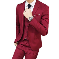 3Pc Wedding Suits for Men Autumn Blazer Pants Single Breasted Smart Casual Straight Female Slim Suits Plus Size 6XL Groom Suit