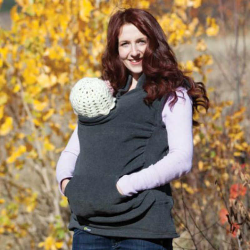 Mutterschaft Känguru Haustier Hoodie Beutel Winter Ärmellose Pullover Weste Baby Träger Jacke Känguru Mutterschaft Oberbekleidung Mantel S-XL