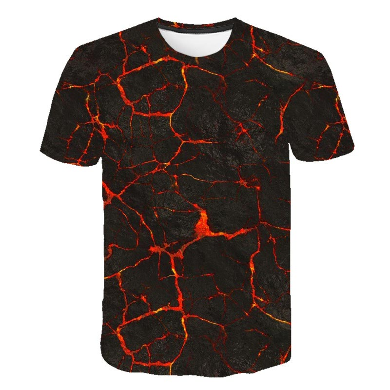 2020 Summer Hot Selling Light Breathable Short-Sleeved 3D Printed Short-Sleeved T-Shirt Fashion Casual Men T-Shirt