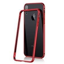 高品質バックル薄型スリムアルミニウム金属バンパーケースiphone 8 7 プラスx xs 11 プロxs最大xr高級メッキハードケースカバー