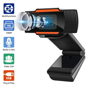 Webcam 1080P Full HD Web Camera With Built-in Microphone USB Plug Web Cam For PC Computer Mac Laptop Desktop YouTube Skype Win10 coforcare 1080p hd webcam usb hd pc camera dual microphone mic for skype for android tv computer ip camera usb web cam