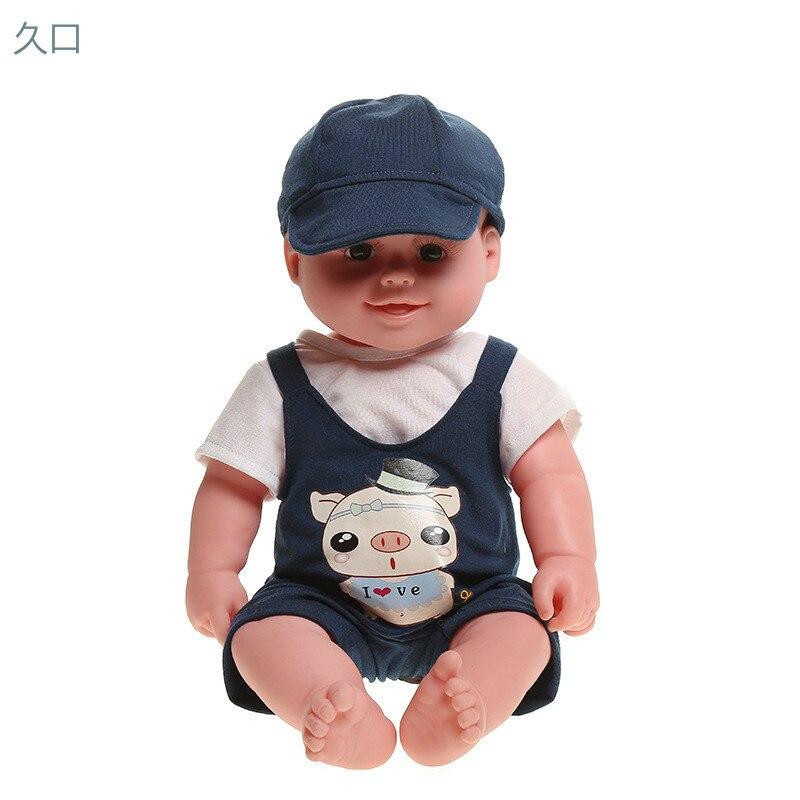 50cm silicone reborn bébé poupées accompagner voix illumination bain jeu d'action mutuelle jouets Polyester Fber Simulation une poupée