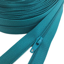 10 Meters 25 Colors Nylon Coil Zippers with 20pcs Auto lock Zipper Slider - Supplies for Tailor Sewing Crafts