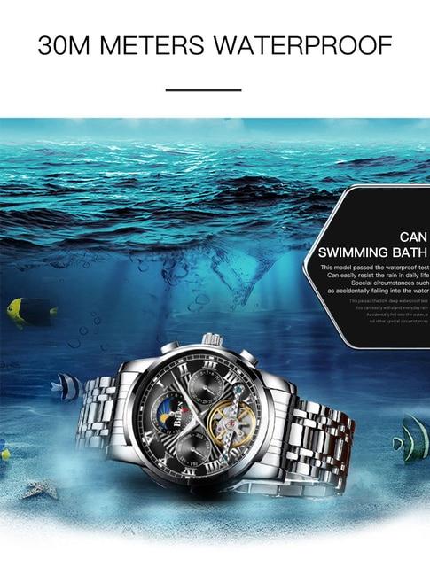 2020 hommes montre-bracelet de luxe Orlando montre pour hommes hommes erkek kol saati mode montres horloge acier inoxydable