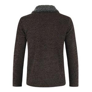 Image 3 - NEGIZBER 2019 חורף Mens מעיל מעילי מוצק Slim Fit עבה פרווה צמר מעילי גברים אופנה חם גברים של קשמיר מעיל Streetwear