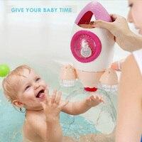 Bathroom Toys Rotary Rocket Spray Water Wash Hair Shower Bath Tub toys Cute Cartoon Children's Toys Waterplay
