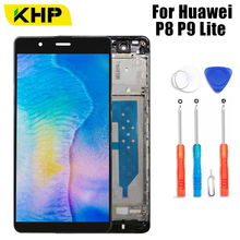 KHP AAAA Original LCD For Huawei P8 Lite P9 Lite LCD Display Touch Screen Digitizer With Frame ALE-L04 ALE-L21 ALE-L04 ALE-L21