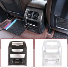 3 cores estilo do carro traseiro ar condicionado saída de ventilação quadro capa guarnição abs chrome para bmw x3 g01 x4 g02 2020 acessórios interiores