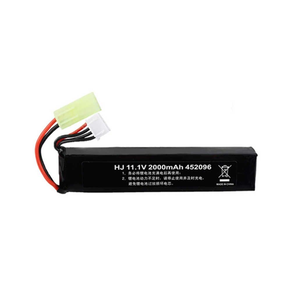 11,1 v Lipo Batterie für Wasser Pistole Airsoft 11,1 V 3S 2000mAh 30C 452096 batterie für Airsoft BB air Pistole Elektrische Spielzeug Pistolen Teile